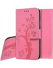 Funda Para iPhone 11 Pro Max,Slim Case de Estilo Billetera Carcasa Libro Funda de Cuero de la PU con Tapa Protectora de Cuerpo Completo Suave Magnético Para iPhone 11 Pro Max,Rosa