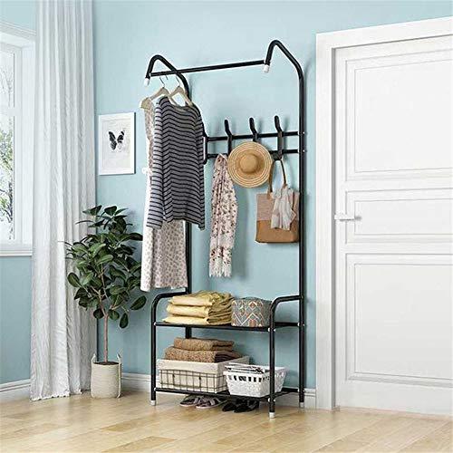 XYBB Armario Dormitorio Nueva Ropa Piso De Pie De Almacenamiento Ropa Moderna Estilo Simple Dormitorio Furnit 170 * 60 * 35cm Negro