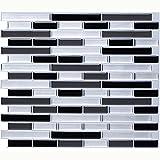 Vamos Tile anti-discrimination Premium Mold Peel and Stick sur Backsplash Stick Tile, Backsplash Wall Tiles for Kitchen & Bathroom à Removable l' ', Adhesive à 11 x 9.2 '(6 Sheets) (style 1)
