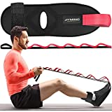 Gymino Foot Stretcher for Plantar Fasciitis - Hamstring Stretcher for Physical Therapy and Rehabilitation - Ligament Stretching Belt for Achilles Tendon, Heel Spur, Thighs, Quads, Calf, Ankle, Hip Aid