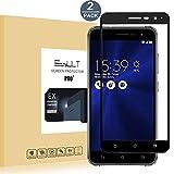 EasyULT Protector de Pantalla para ASUS ZenFone 3 ZE520KL [2 Pack],Cobertura Completa Protector de Pantalla de Vidrio/Cristal Templado para ASUS ZenFone 3 ZE520KL -Negro