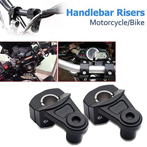 PJhao Universal 22mm 7/8Inch Lenker Riser Klemmen schwarz für Motorrad Schmutz Fahrrad ATV