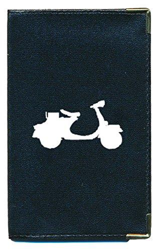 Syl'la - Funda para tarjeta gris, permiso de conducir, documentos de coche planos, Scooter (negro) - cg-tpas