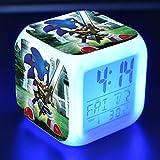 BMSYTY 3D7 cambio de color luz de noche led digital reloj anime despertador reloj de escritorio Desertador N39