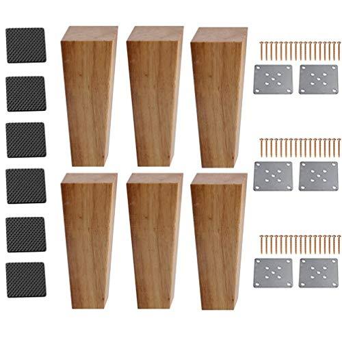 Meubelpoten, meubelpoten tafelpoten van eikenhout, trapeziumvoeten, reservemeubelpoten van massief hout, meubelpoten rechthoekig, bank, bed, kast, bank, stoelen, 12 C