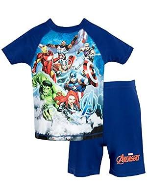 Marvel Avengers Boys' Two Piece Swim Set 4