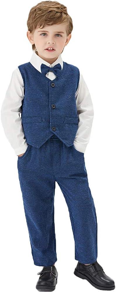 Surprise price Toddler Boys Formal Suits Kids Classic Fit Vest Suit Rapid rise S Dresswear