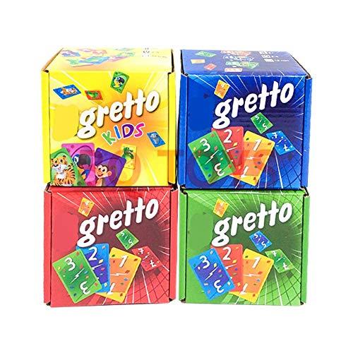 Steadyuf Kartenspiel, Gretto LIGRE Game, Unterhaltsame Kartenspiel für Jung und Alt spaßige und amüsante Spieleabende im Freundes - und Familienkreis