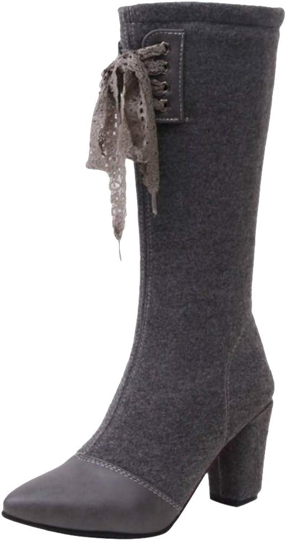 MisaKinsa Women Fashion Mid Heel Half Boots