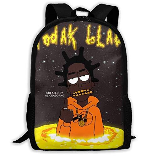 Schulrucksack, Travel Hiking Kodak Black3 Backpacks Waterproof Big Student College High School Shoulder Bag Outdoor Backpacks for Men Women Adults