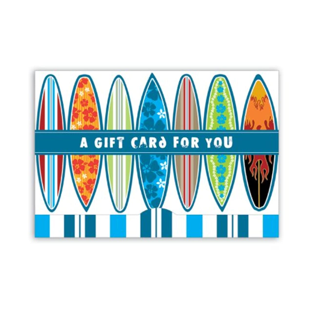 Jillson Roberts Gift Card Holders, A Gift for You, Surfboards, 6-Count (GCP044)