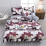ZJMM Conjunto de Cuatro Piezas de algodón de Verano Funda de edredón de algodón Simple Dormitorio de Estudiante Sábanas de Tres Piezas pequeñas y Frescas