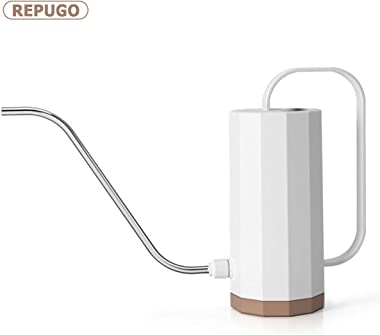 REPUGO Plastic Watering Can, Watering Can, Plant Watering Can with Long Spout, Modern Style Watering Pot, 1.2L/40 oz Small Wa