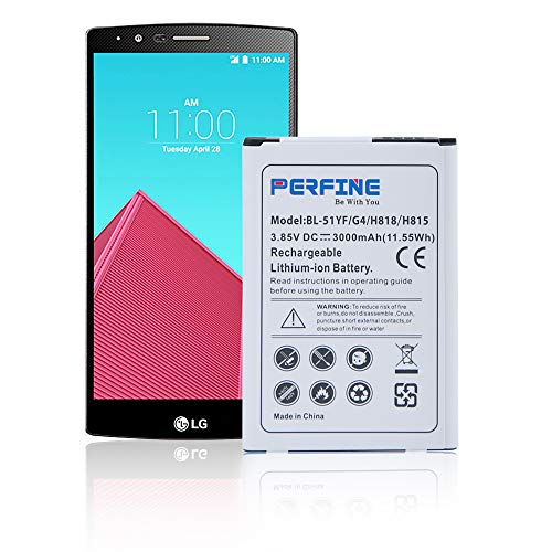 Perfine LG G4 Batería [3000mAh] LG G4 BL-51YF/H818