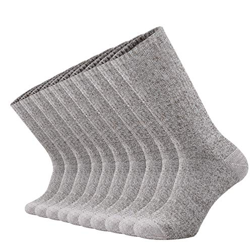 ONKE Cotton Moisture Wicking Work Training Cushion Crew Socks Men Pack(CamelWhite L)