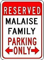 鉄絵倦怠感家族用駐車場ティンサインプロフェッショナルなグラフィックスで印刷屋内または屋外で簡単に取り付け屋内および屋外で簡単に取り付け
