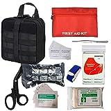 GRULLIN Bolsa de botiquín de primeros auxilios, Tactical MOLLE Medical IFAK Rip-Away EMT Pouch Emergency Survival Bolsa pequeña para el hogar, coche, caza, lugar de trabajo, camping, viajes