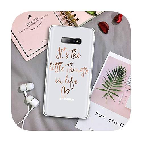 Bling Glitter Love Fashion Pattern Funda Transparente Para Samsung Galaxy S A 5 7 8 9 2015 20 Edge Plus 10 E Lite 2019-a1-Samsung S10 Plus