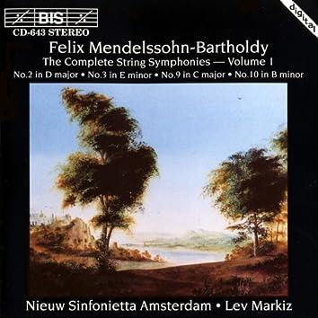 Mendelssohn, F.: The Complete String Symphonies - Vol. 1