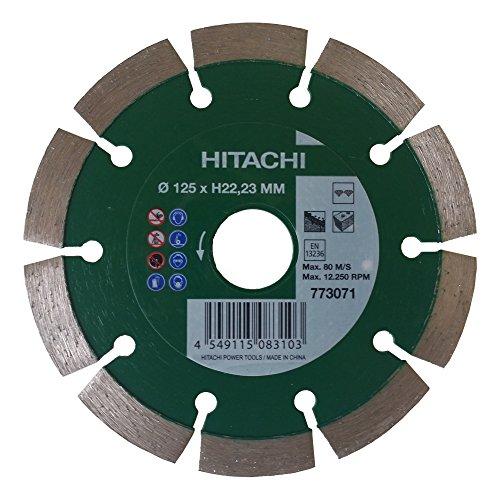 Hitachi Dia slijpschijf 125 x 22,23 mm diamantdoorslijpschijf