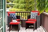 KaiMeng 4 Pieces Patio Furniture Space Saving Outdoor...