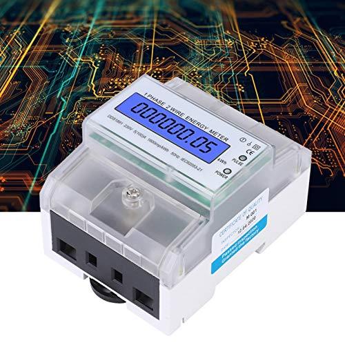 Misuratore di energia elettrica per energia elettrica su guida DIN monofase per tecnologia microelettronica per circuiti