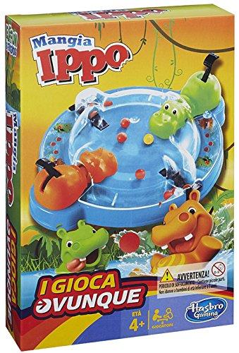 Hasbro Gaming - Mangia Ippo Travel (Gioco in Scatola), B1001103 [Versione in Italiano]