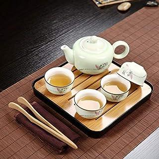 DXM Teapot Exquisite Ceramic Teapot Kettles Tea Cup Porcelain Outdoor Travel Mini Portable Ceramics Teaware Set Without Tr...