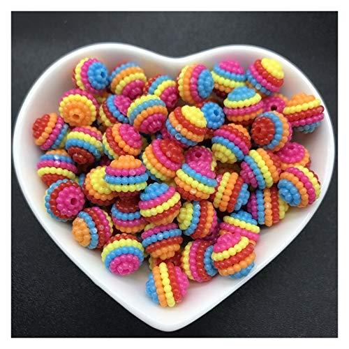 WEIYUE 50 cuentas acrílicas de bayberry de 10 mm, para accesorios de joyería (color 14)