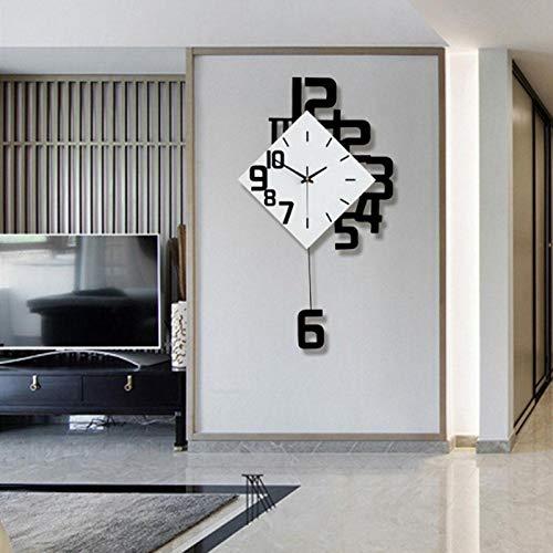 Jacksing Reloj de Pared, Estilo nórdico, Hierro Forjado, Reloj de Pared, Reloj Colgante, decoración para Sala de Estar/Bar, Funciona con Pilas, súper silencioso