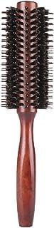 天然ロールブラシ ヘアブラシ 豚毛 巻き髪 静電気防止 髪をケア 高級美容