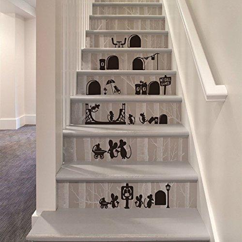 WeiMay. Graz Design - Adhesivo Decorativo para Pared (25 x 55 cm), diseño de ratón