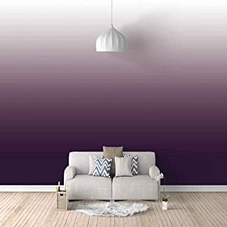 VITICP Adults Kids Wall Stickers Decals Peel and Stick Removable Wallpaper Purple Gradient Art for Nursery Bedroom Living ...