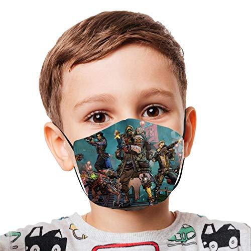 Halstücher für Kinder, wiederverwendbar, winddicht, Anti-Staub, Mundschutz für Mädchen und Jungen Gr. Einheitsgröße, Weiß-27