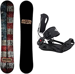 Camp Seven Drifter Snowboard and 2020 System MTN Rear Entry Step in Binding Men's Snowboard Package