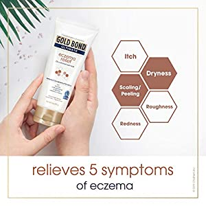 Gold Bond Ultimate Skin Protectant Hand Cream for Eczema Relief, 2% Colloidal Oatmeal, 8 oz.