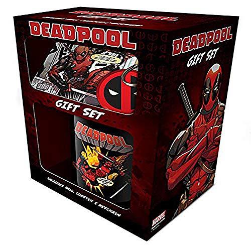 Cup of Tees Deadpool Mug, Coaster and Keychain Gift Set
