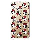 Carcasa Oficial de Disney Minnie Patrón Caras Clear para Huawei P8 Lite 2017 - La Casa de Las Carcasas