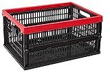Allibert 229890–Caja Plegable, plástico, Negro/Rojo, 47,5x 35x 5,6cm