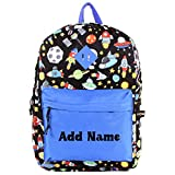 Personalized Kids 14 Inch Backpack - Space