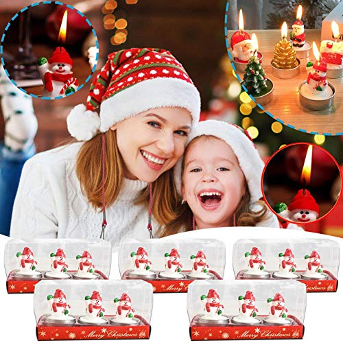 Christmas Gifts,15 PC Christmas Candles,Xmas Decorations Kit DIY Creative Gift for Family Party Holiday