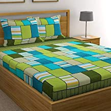 ZATCHBELL Microfiber King Size Double Bedsheet with 2 Pillow Covers (multi4)
