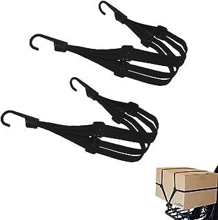 荷台用 ゴムひも 2本組 バイク ゴムロープ 荷物固定60cm 荷崩れ防止 両端フック付き オートバイヘルメット スクーター バイク キャリーカート 荷物固定 (2本セット)