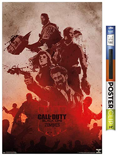 Trends International Call of Duty: Black Ops 4 - Zombie Graphic Wall Poster, 22.375' x 34', Premium Poster & Clip Bundle