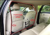 Car Partition Sneeze Guard with AC Window for Rear Portable Removable Foldable