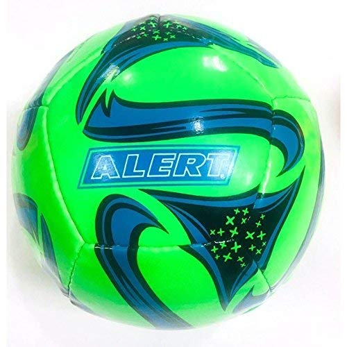 Lively Moments Handball / Spielball / Wurfball ca. 13 cm mit epischer Galaxy - Optik in Neon grün-Blau-Schwarz