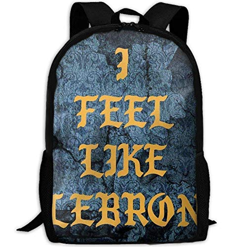 sghshsgh Zaino Scuola,Zaini e borse sportive,NEW Student Backpack School Backpack For Laptop Most Durable Lightweight Cute Travel Water Resistant School Backpack I FEEL LIKE LEBRON Casual Daypack