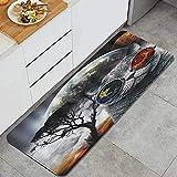 Alfombra de cocina, gato alienígena El animal de gato de animal...