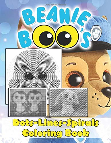 Beanie Boo Dots Lines Spirals Coloring Book: Beautiful Simple Designs Beanie Boo Adult Color Puzzle Activity Books For Women And Men