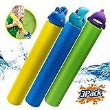 Water Guns for Kids 3 Pack Foam Water Blaster Squirt Gun Shooter Swimming Pool Pump Foam Water Soaker Super Blasters...